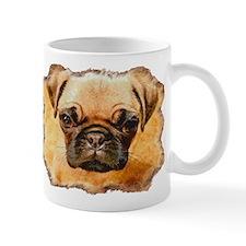 Brown Pug Puppy Mug