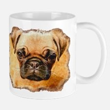 Brown Pug Puppy Mug