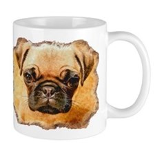 Brown Pug Puppy Small Mug