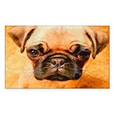 Brown Pug Puppy Decal