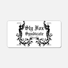 Sly Fox Syndicate Logo Aluminum License Plate