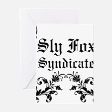 Sly Fox Syndicate Logo Greeting Cards