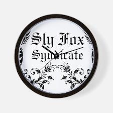 Sly Fox Syndicate Logo Wall Clock