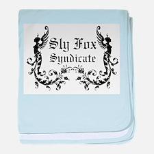 Sly Fox Syndicate Logo baby blanket