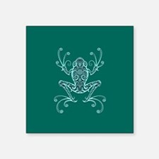 Intricate Teal Blue Tribal Tree Frog Sticker