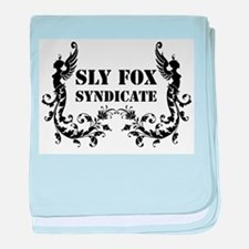 Sly Fox Syndicate Logo Bold baby blanket