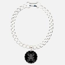 Intricate Gray and Black Tribal Tree Frog Bracelet