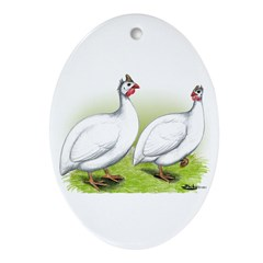 White Guineas Oval Ornament