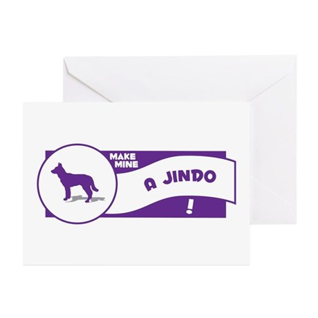 Make Mine Jindo Greeting Cards (Pk of 10)