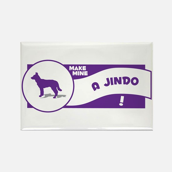 Make Mine Jindo Rectangle Magnet