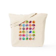 Psychedelic Supernova Circles Tote Bag