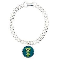 Green and Blue Zombie Sugar Skull Kitten Charm Bra