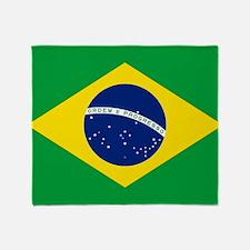 Flag Of Brazil Throw Blanket