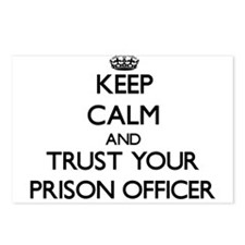 Keep Calm and Trust Your Prison Officer Postcards