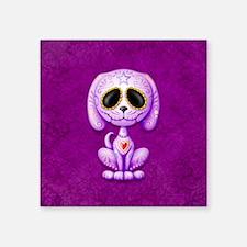 Purple Zombie Sugar Skull Puppy Sticker
