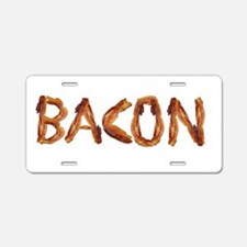 Bacon in the Shade of Bacon Aluminum License Plate