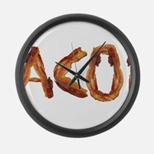Bacon in the Shade of Bacon Large Wall Clock