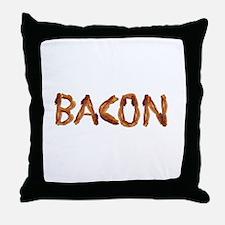 Bacon in the Shade of Bacon Throw Pillow