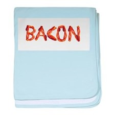 Bacon in the Shade of Bacon baby blanket