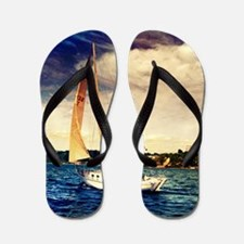 Sailboat on Lake Flip Flops