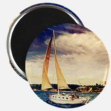 Sailboat on Lake Magnets