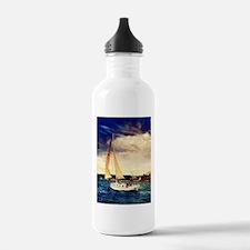 Sailboat on Lake Water Bottle