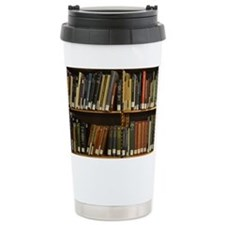 Library Bookshelf Travel Mug