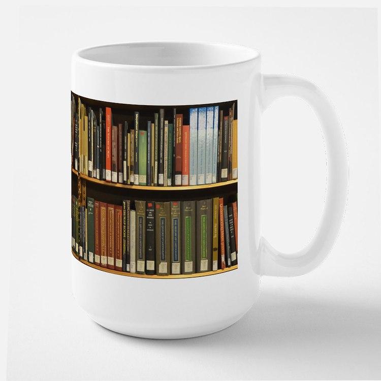 Library Bookshelf Mugs