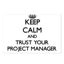 Keep Calm and Trust Your Project Manager Postcards