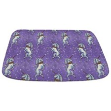 Unicorn Purple Glitter Personalize Bathmat