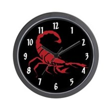 Red Scorpion Wall Clock