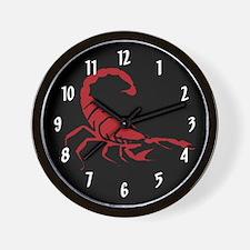 Red Scorpion Wall Clock