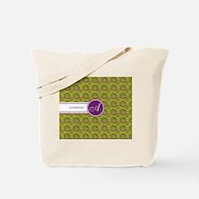 Hawaiian Monogram Personalized Tote Bag
