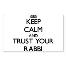 Keep Calm and Trust Your Rabbi Decal