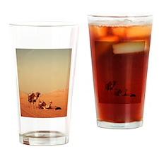 Desert Camels 2 Drinking Glass