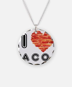 I Heart Bacon Necklace