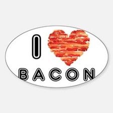 I Heart Bacon Decal