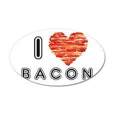 I Heart Bacon Wall Decal