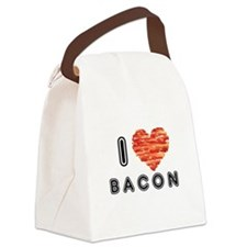 I Heart Bacon Canvas Lunch Bag