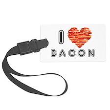 I Heart Bacon Luggage Tag