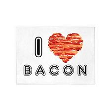 I Heart Bacon 5'x7'Area Rug