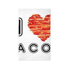 I Heart Bacon 3'x5' Area Rug