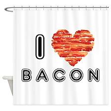 I Heart Bacon Shower Curtain