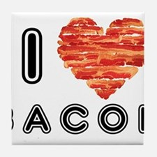 I Heart Bacon Tile Coaster