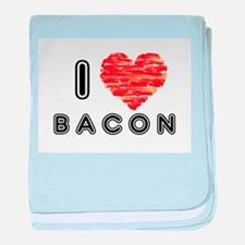 I Heart Bacon baby blanket