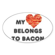 My heart belongs to bacon Decal