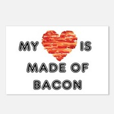 My heart is made of bacon Postcards (Package of 8)