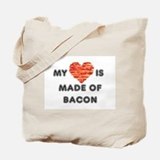My heart is made of bacon Tote Bag