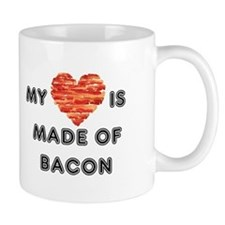 My heart is made of bacon Mugs