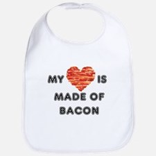 My heart is made of bacon Bib